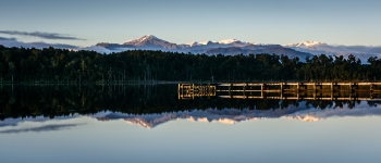 Lake Mahinapua morning reflection - Liz Caldwell